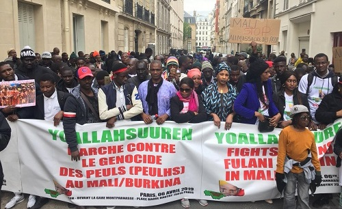 Paris : 2ème manifestation contre le massacre des peuls au Mali
